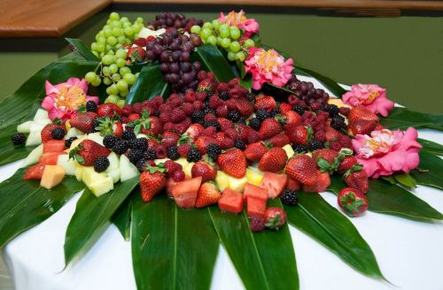 flowery fruit arrangement