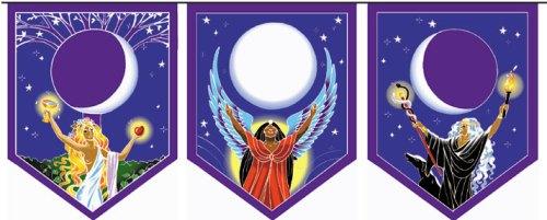 triple goddess pennants