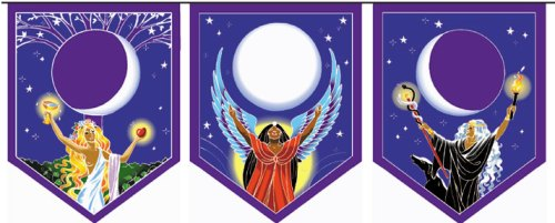 triple goddess pennants