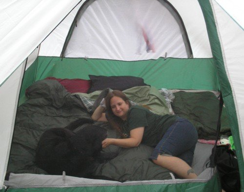 crystal camping with mollie