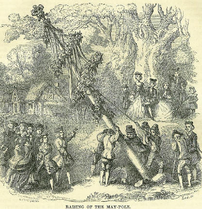 Raising the May Pole