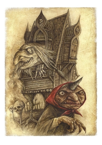 baba yaga in hut