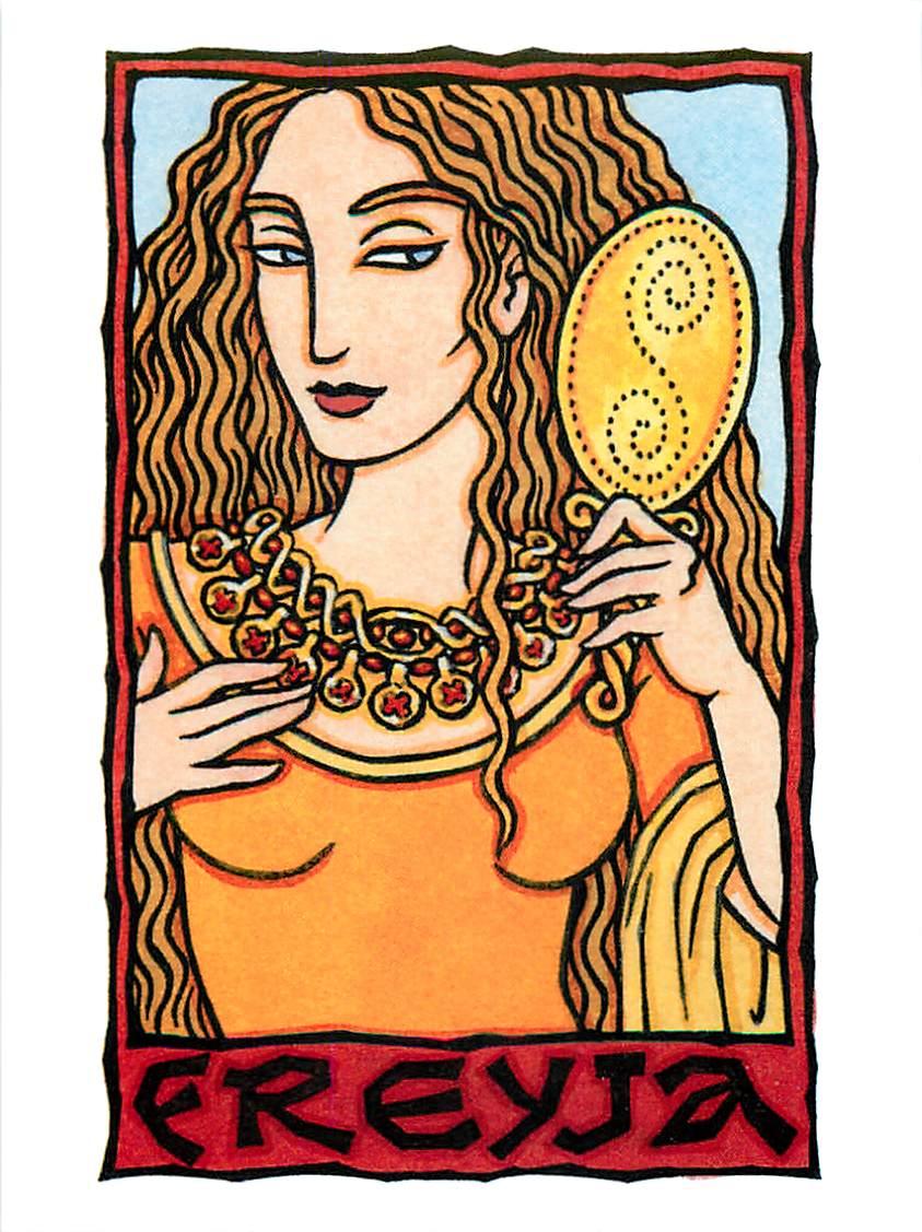 Freyja-Freya-Norse-Goddess-Pagan-Postcard-by-Thalia-Took-4 | Deaf ...