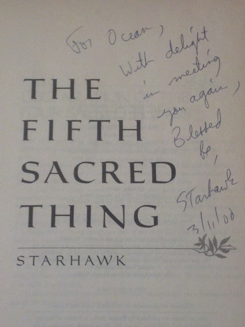 fifth sacred thing autograph