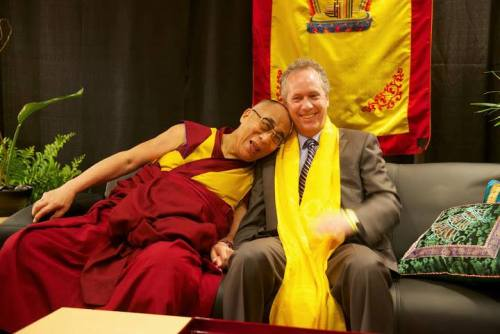 dalai lama and mayor