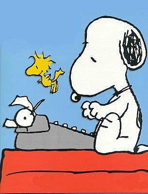 snoopy_writing