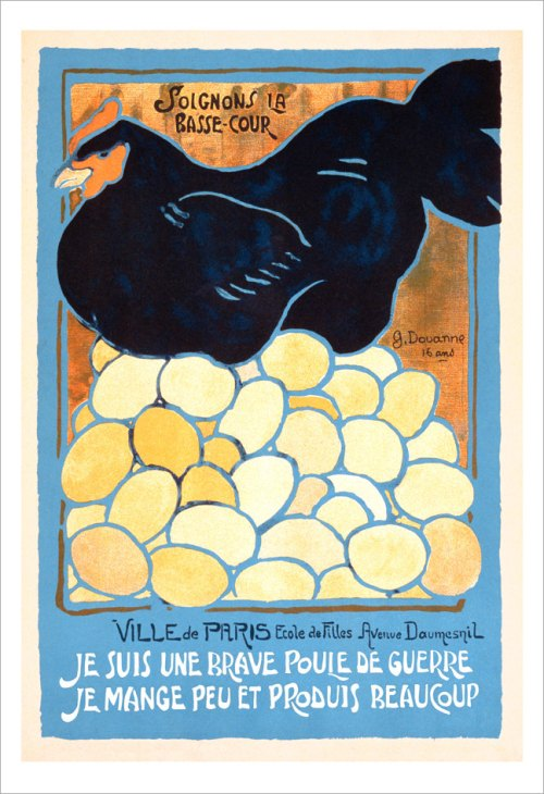 french hen poster