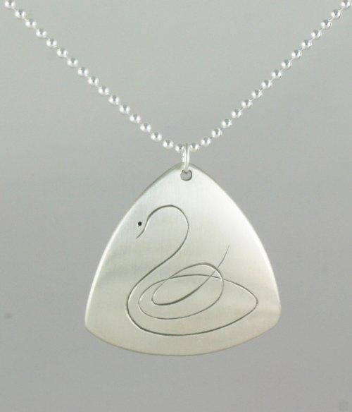 calligraphic swan
