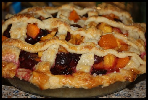 cherry apricot peach pie