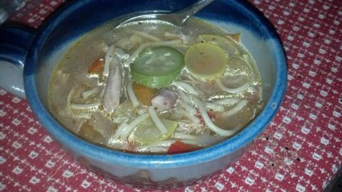 Chicken Soup with Squash