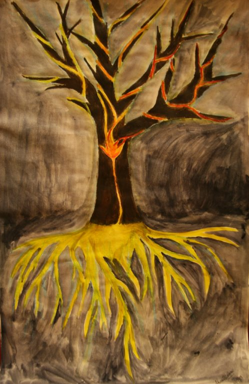 Cancer Tree Painting