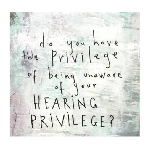 hearing privilege